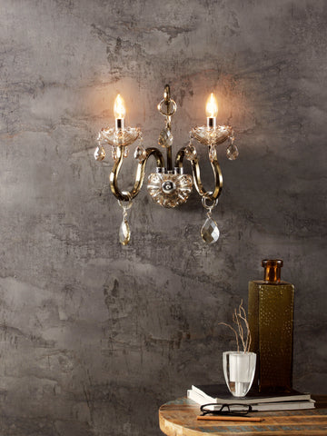 Heather Gold Crystal Wall Light| Buy Crystal Wall Lights Online India