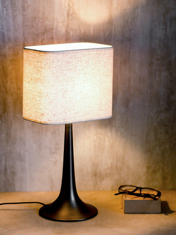 Monero black contemporary table lamp buy luxury table lamps online india