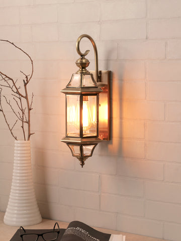 Waden Lantern Gold Wall Lamp | Buy Vintage Wall Light Online India
