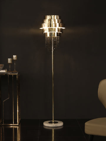 Azeil Crystal Gold Floor Lamp | Buy Crystal Floor Lamps Online India