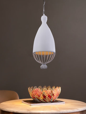 Niva White Pendant Lamp | Buy Luxury Hanging Lights Online India