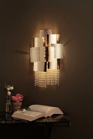 Ellie Gold Crystal Wall Light | Buy Crystal Wall Lights Online India