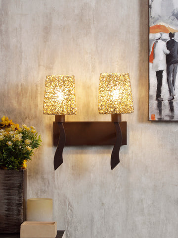 Dorina LED 2-Lamp Vintage Wall Lamp| Buy Luxury Wall Lights Online India