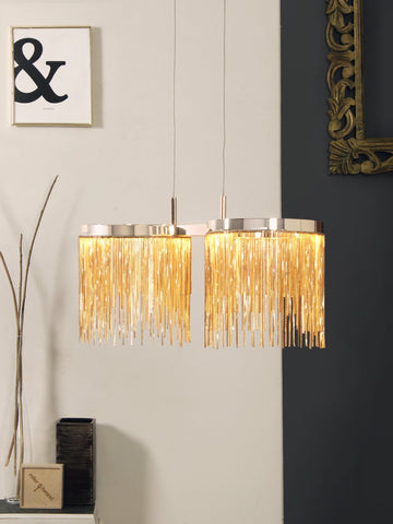 Debina Chain LED Double Suspension Lamp - Buy LED Hanging Lights Online India