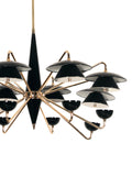 Cosmic LED Black Chandelier | Buy LED Chandeliers Online India