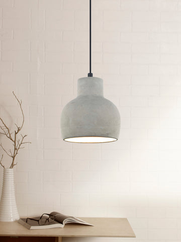 Tyrian Grey Concrete Pendant Lamp | Buy Industrial Hanging Lights Online India
