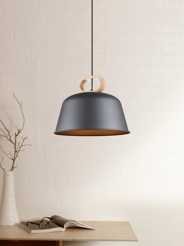 Turnel Black Scandinavian Pendant Lamp | Buy Hanging Lights Online India