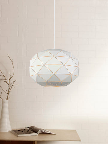 Glorian White Pendant Lamp | Buy Modern Hanging Lights Online India
