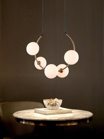 Vector Globes Gold Hanging Light | Buy Modern Ceiling Lights Online India