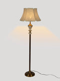 Jacob White Gold Floor Lamp | Buy Traditional Floor Lamps Online India