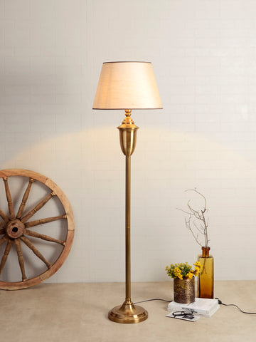Marc White Gold Floor Lamp | Buy Traditional Floor Lamps Online India
