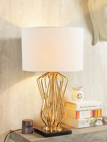 Teresa white gold table lamp buy luxury table lamps online india