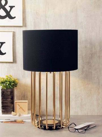 Spencer Black Gold Modern Table Lamp | Buy Luxury Table Lamps Online India