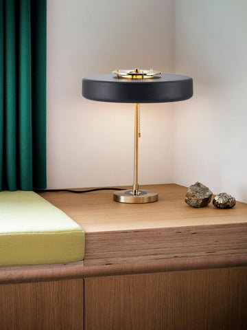 Revolve Black Gold Table Lamp | Buy Modern Table Lamps Online India