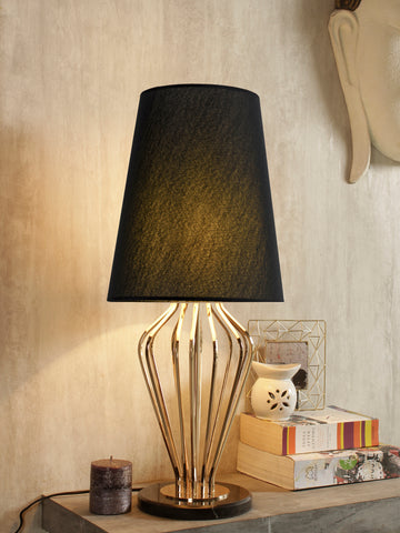 Kathy Black Gold Table Lamp | Buy Luxury Table Lamps Online India