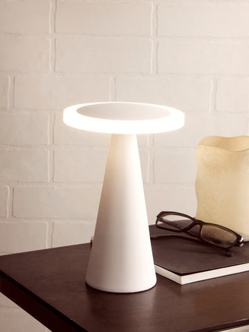 Ines White LED Desl Lamp | Buy Modern LED Table Lamps Online India