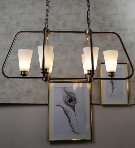 Rubella 6-Lamp Traditional Chandelier | Buy Luxury Chandeliers Online India