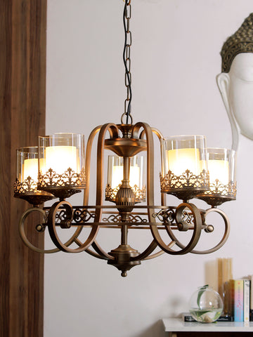 Marville 5-Lamp Vintage Chandelier | Buy Luxury Chandeliers Online India