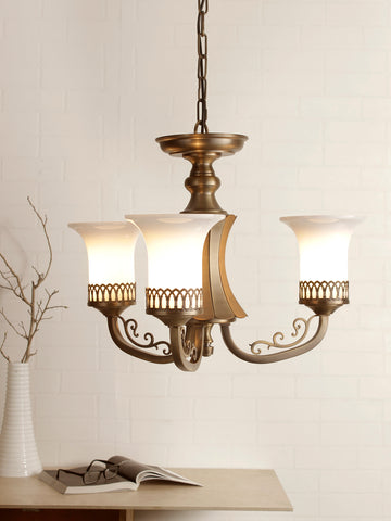 Novella 3-Lamp Traditional Chandelier | Buy Luxury Chandeliers Online India