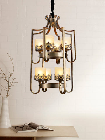 Selville Traditional Gold Chandelier | Buy Decorative Chandeliers Online India