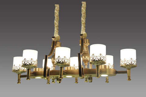 Selville Vintage Rectangle 8 Light Chandelier | Buy Luxury Chandeliers Online India