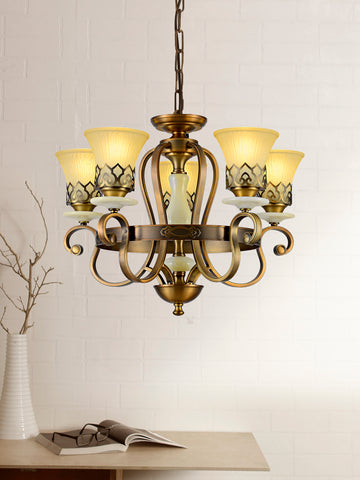 Chenille Traditional Gold Chandelier | Buy Decorative Chandeliers Online India