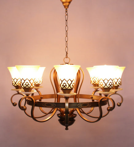Chenille 8-Lamp Chandelier | Buy Luxury Chandeliers Online India