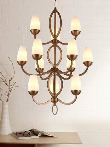 Ariano Traditional Gold Chandelier | Buy Decorative Chandeliers Online India