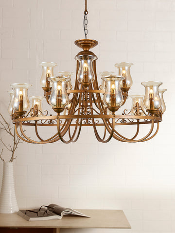 Rudiano Traditional Gold Chandelier | Buy Decorative Chandeliers Online India