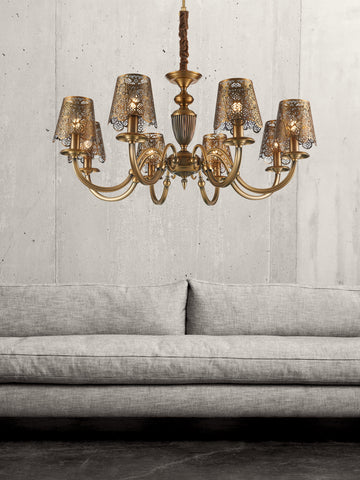 Rochelle Traditional Gold Chandelier | Buy Decorative Chandeliers Online India