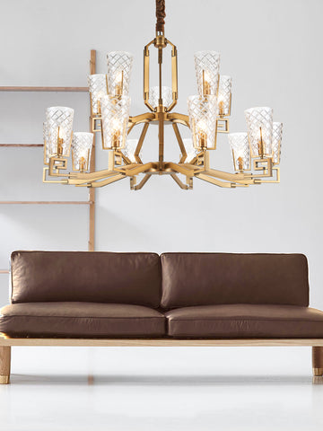 Estelle Traditional Gold Chandelier | Buy Decorative Chandeliers Online India