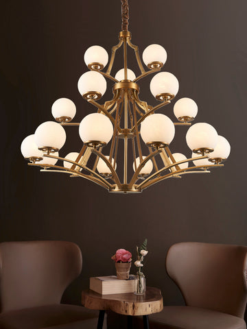 Orville Traditional Gold Chandelier | Buy Decorative Chandeliers Online India