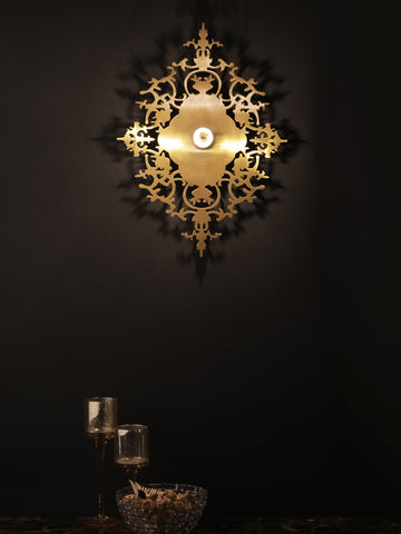 Menora Gold Wall Light | Buy Modern LED Wall Lights Online India