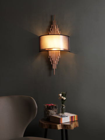 Erwin White Gold Wall Light | Buy Modern Wall Lights Online India
