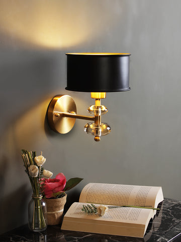 Lucille Black Gold Wall Light | Buy Traditional Wall Lights Online India