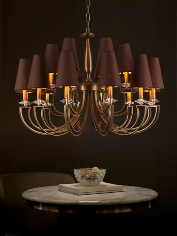 Carmille Brown Gold Chandelier | Buy Vintage Chandeliers Online India