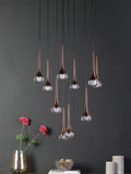 Stein Copper Cluster LED Ceiling Lights | Buy LED Chandeliers Online India