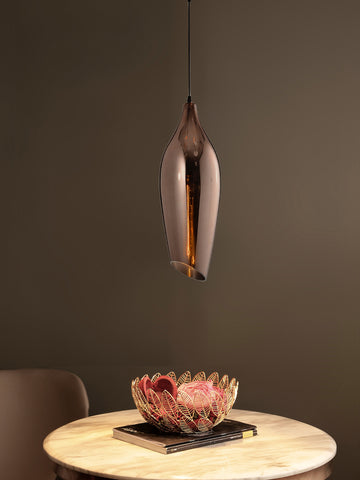 Quino Copper Glass Pendant Light | Buy Decorative Ceiling Lights Online India