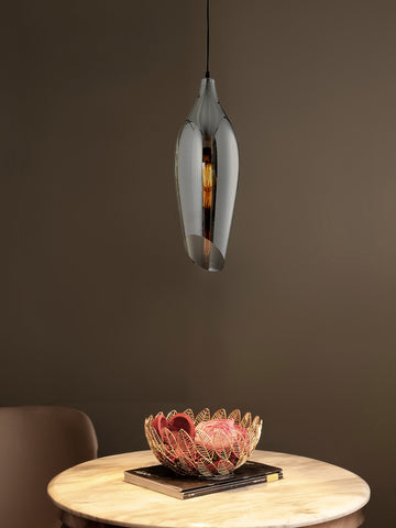 Quino Smoky Glass Pendant Light | Buy Decorative Ceiling Lights Online India