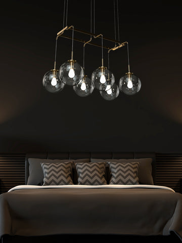 Cora Multi Light Linear Chandelier | Buy Decorative Ceiling Lights Online India