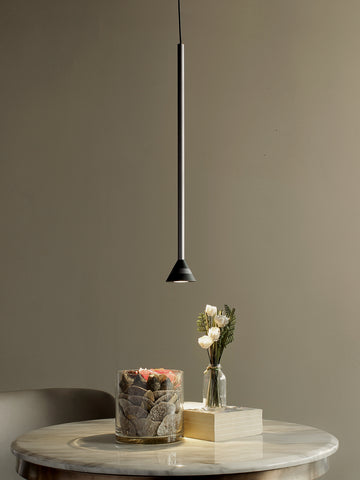 Nouvel Black Long Tube Hanging Light | Buy LED Ceiling Lights Online India