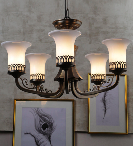 Novella 5-Lamp Traditional Chandelier | Buy Luxury Chandeliers Online India