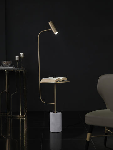 Burton Floor Lamp with Trey Table | Buy Modern Floor Lamps Online India