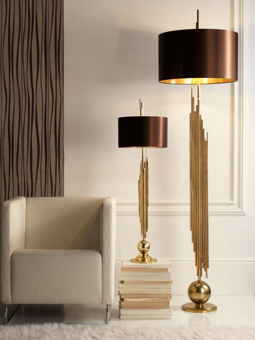 Arseno Black Gold Table Lamp | Buy Modern Table Lamps Online India