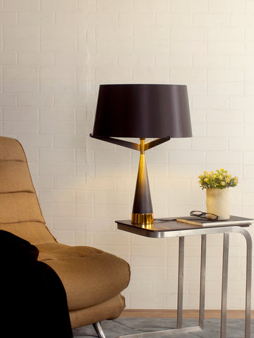 Doriane Black Gold Table Lamp | Buy Modern Table Lamps Online India