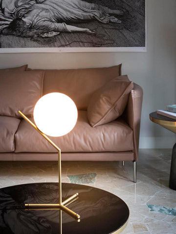 IC Globe White Gold Table Lamp | Buy Modern Table Lamps Online India