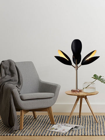 Bloom Black Gold Table Lamp | Buy Modern Table Lamps Online India