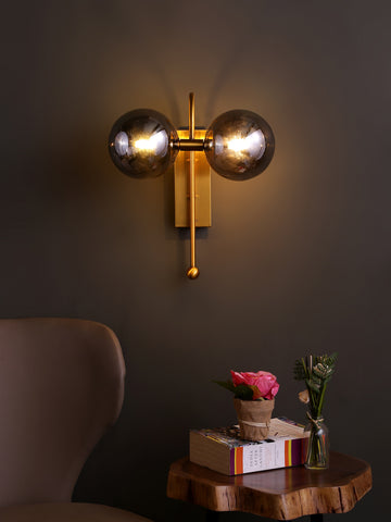 Otis Smoked | Buy Wall Lights Online in India | Jainsons Emporio Lights