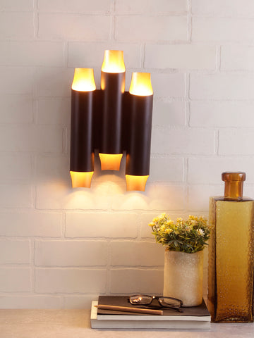 Coltra Black Gold Wall Light | Buy Modern Wall Lights Online India