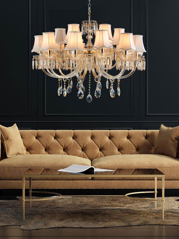 Caroline Gold Crystal Chandelier| Buy Crystal Chandeliers Online India